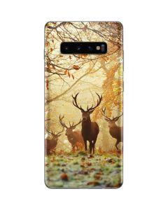 Four Red Deer Galaxy S10 Plus Skin