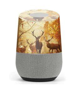 Four Red Deer Google Home Skin