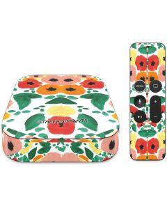 Geometric Flowers Apple TV Skin