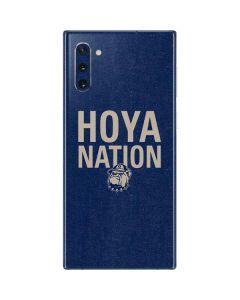 Georgetown Hoya Nation Galaxy Note 10 Skin