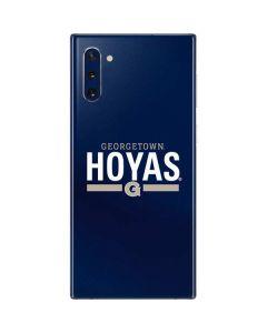 Georgetown Hoyas Stripe Galaxy Note 10 Skin
