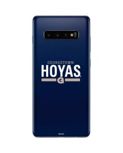 Georgetown Hoyas Stripe Galaxy S10 Plus Skin