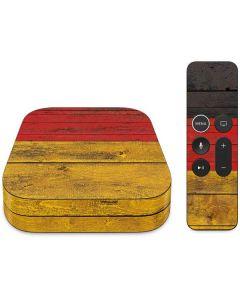 German Flag Dark Wood Apple TV Skin