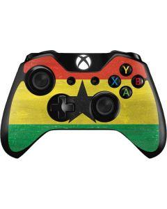Ghana Flag Distressed Xbox One Controller Skin