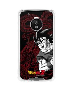 Goku and Shenron Moto G5 Plus Clear Case