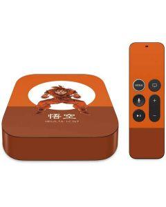 Goku Orange Monochrome Apple TV Skin