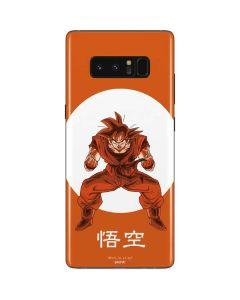 Goku Orange Monochrome Galaxy Note 8 Skin