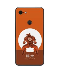 Goku Orange Monochrome Google Pixel 3 XL Skin