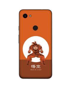 Goku Orange Monochrome Google Pixel 3a Skin
