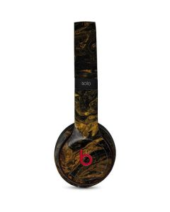 Gold and Black Marble Beats Solo 3 Wireless Skin