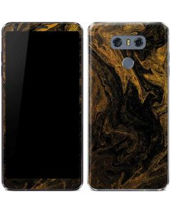 Gold and Black Marble LG G6 Skin