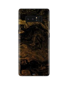 Gold and Black Marble Galaxy Note 8 Skin