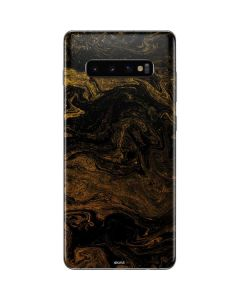 Gold and Black Marble Galaxy S10 Plus Skin