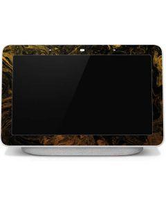Gold and Black Marble Google Home Hub Skin