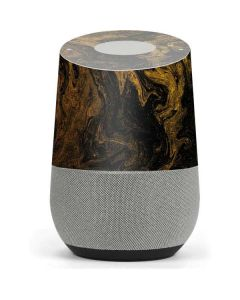 Gold and Black Marble Google Home Skin