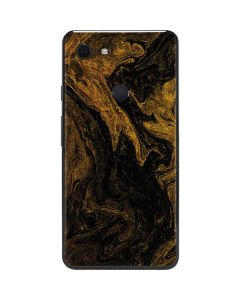 Gold and Black Marble Google Pixel 3 XL Skin