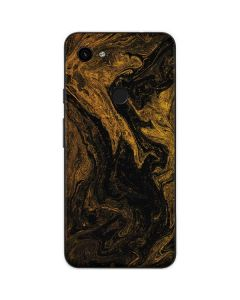 Gold and Black Marble Google Pixel 3a Skin