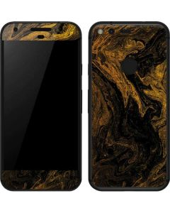 Gold and Black Marble Google Pixel Skin