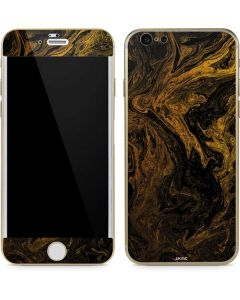 Gold and Black Marble iPhone 6/6s Skin