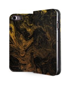 Gold and Black Marble iPhone 8 Folio Case