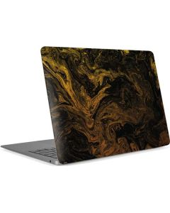 Gold and Black Marble Apple MacBook Air Skin
