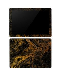 Gold and Black Marble Surface Go Skin