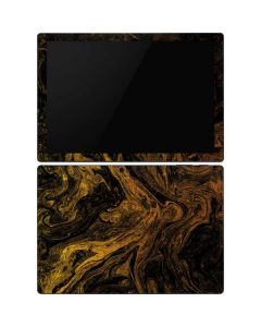 Gold and Black Marble Surface Pro 6 Skin