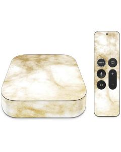 Gold and White Marble Apple TV Skin