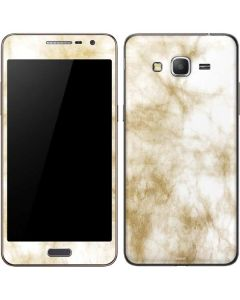 Gold and White Marble Galaxy Grand Prime Skin