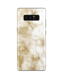 Gold and White Marble Galaxy Note 8 Skin