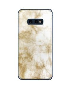 Gold and White Marble Galaxy S10e Skin
