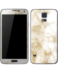Gold and White Marble Galaxy S5 Skin