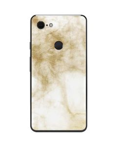 Gold and White Marble Google Pixel 3 XL Skin