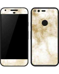 Gold and White Marble Google Pixel Skin