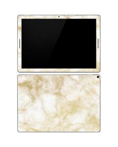 Gold and White Marble Google Pixel Slate Skin