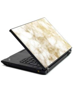 Gold and White Marble Lenovo T420 Skin