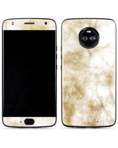 Gold and White Marble Moto X4 Skin