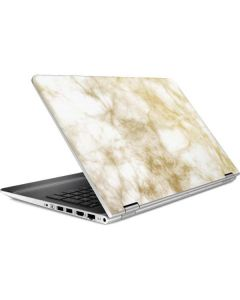Gold and White Marble HP Pavilion Skin