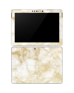 Gold and White Marble Surface Go Skin