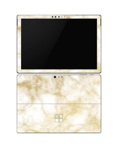 Gold and White Marble Surface Pro 6 Skin