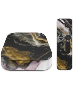 Gold Blush Marble Ink Apple TV Skin