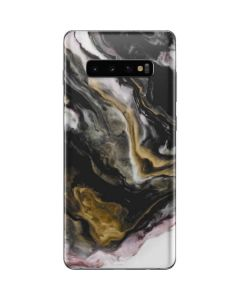 Gold Blush Marble Ink Galaxy S10 Plus Skin