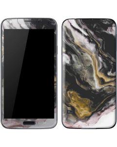 Gold Blush Marble Ink Galaxy S5 Skin