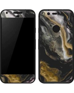 Gold Blush Marble Ink Google Pixel Skin