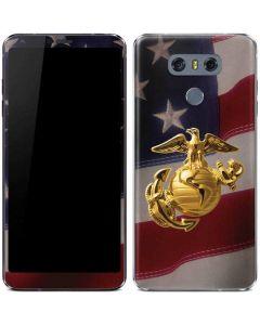 Gold Marine American Flag LG G6 Skin