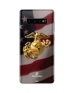 Gold Marine American Flag Galaxy S10 Plus Skin