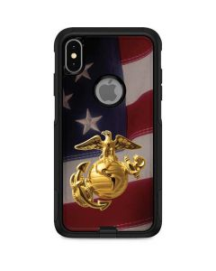 Gold Marine American Flag Otterbox Commuter iPhone Skin