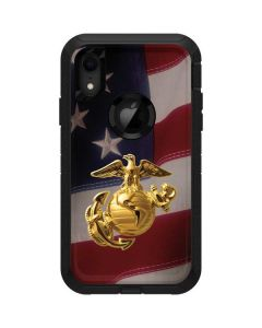 Gold Marine American Flag Otterbox Defender iPhone Skin