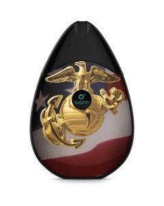 Gold Marine American Flag Suorin Drop Vape Skin