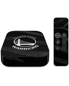 Golden State Warriors Black Animal Print Apple TV Skin